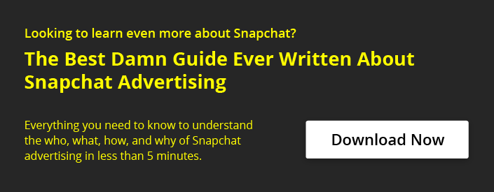 The Best Damn Guide Ever Written About Snapchat Advertising