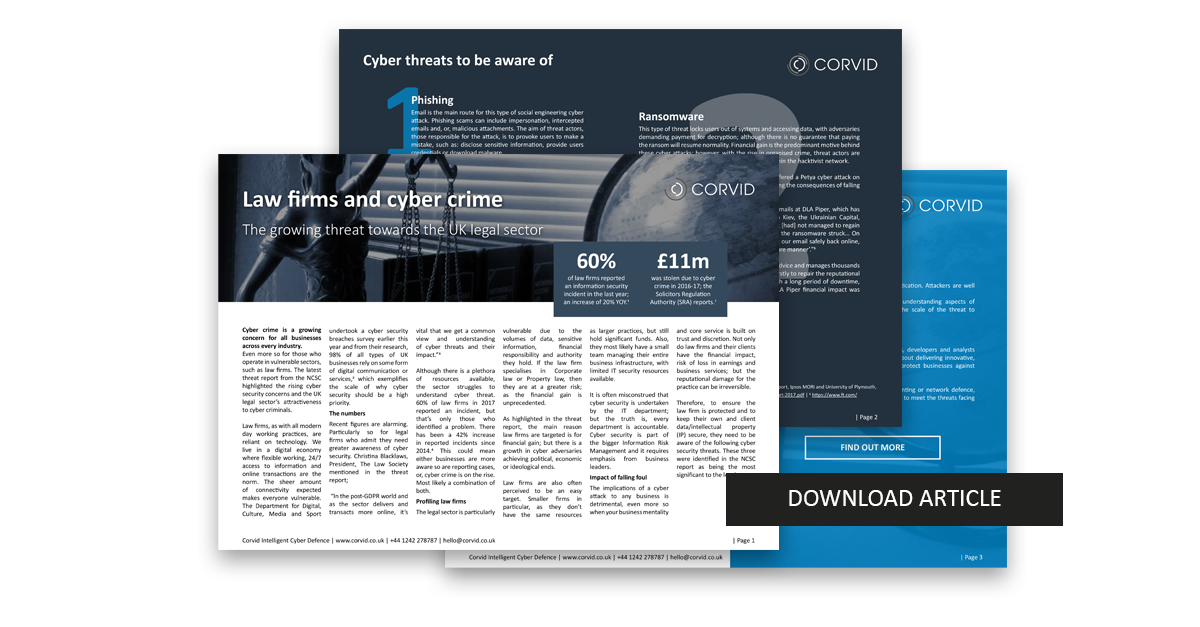 Download law firms and cyber crime article