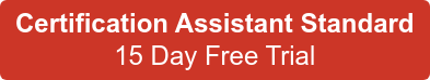 Certification Assistant Standard 15 Day Free Trial