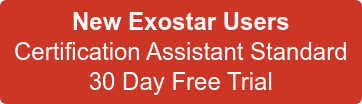 New Exostar Users  Certification Assistant Standard 30 Day Free Trial