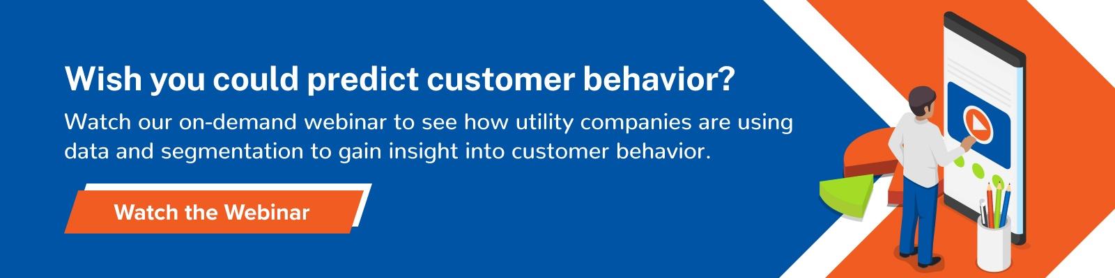 Utility data segmentation webinar helps build a more effective customer journey CTA