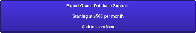 Expert Oracle Database Support Starting at $500 per month