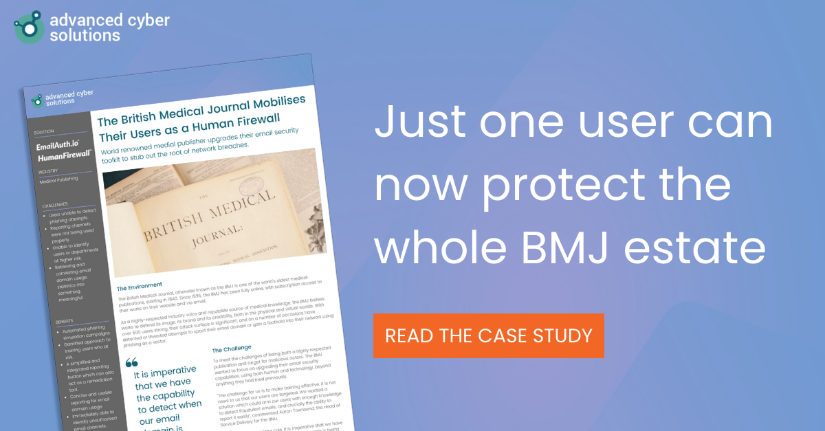 BMJ Case Study for Human Firewall and EmailAuth