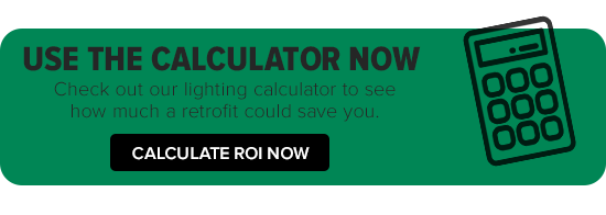 Lighting calculator for energy savings from retrofit to LED/ efficient lighting