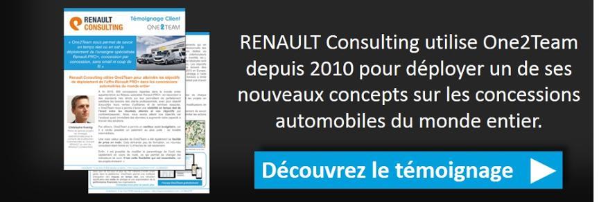 Découvrez le témoignage de Renault sur son utilisation de One2Team.