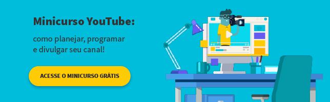 minicurso que ensina a programar divulgar e planejar seu canal no youtube