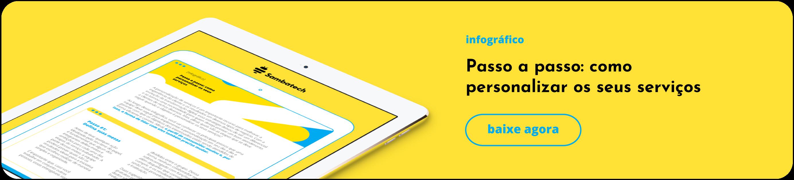 Infográfico Como personalizar serviços