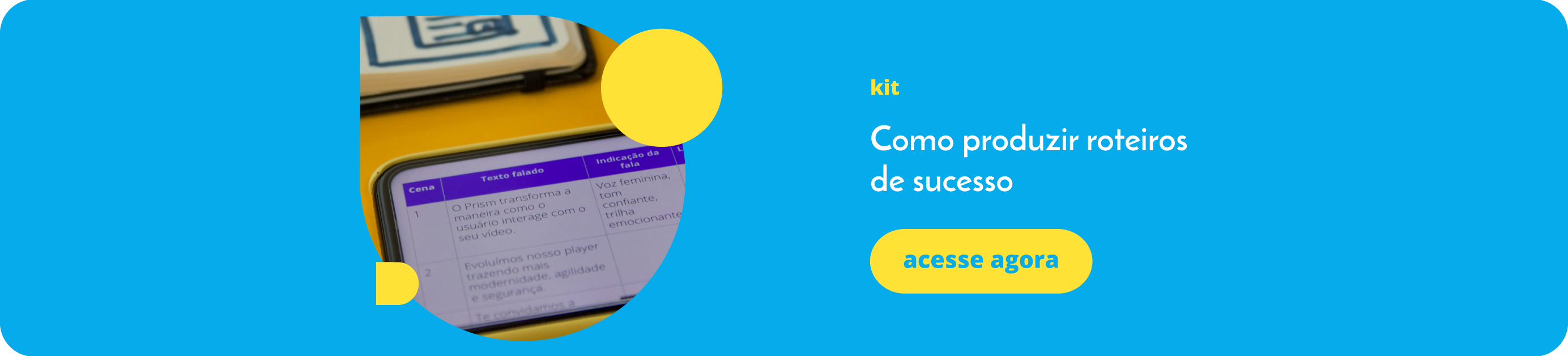 Kit - Como produzir roteiros de sucesso - Sambatech