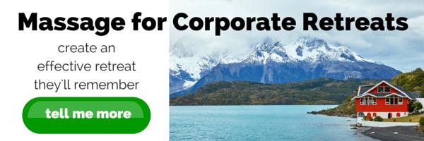 Corporate retreat massage