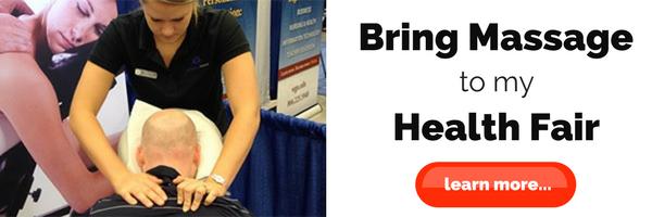 health fair massages