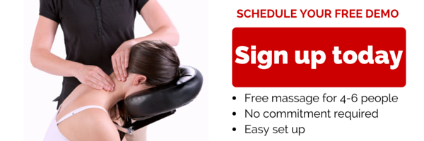 free corporate chair massage demo