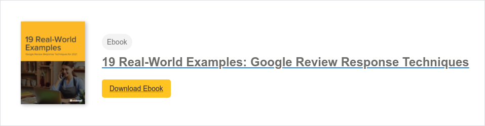 Ebook  19 Real-World Examples: Google Review Response Techniques Download Ebook