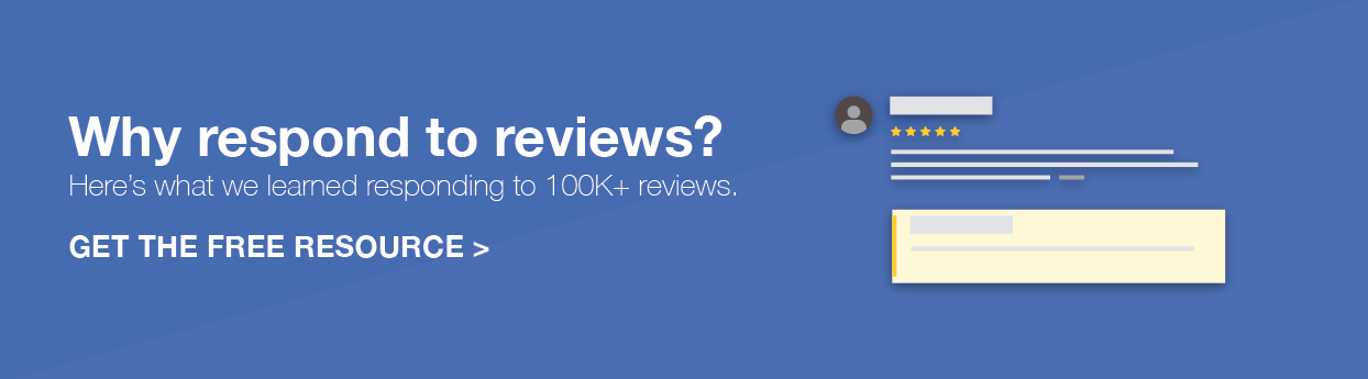 Why Respond to reviews ?