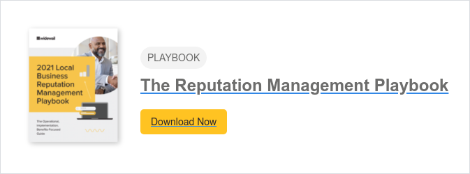PLAYBOOK  The 2021 Reputation Management Playbook Download Now