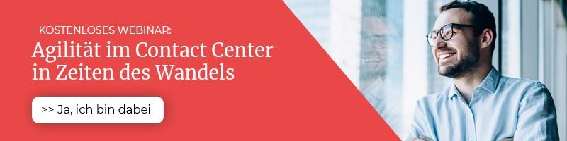 Wie agil ist Ihr Contact Center? Melden Sie sich zu unserem Webinar an