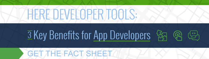 HERE Developer Tools Fact Sheet