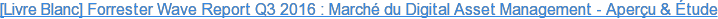 [Livre Blanc] Forrester Wave Report Q3 2016 : Marché du Digital Asset  Management - Aperçu & Étude