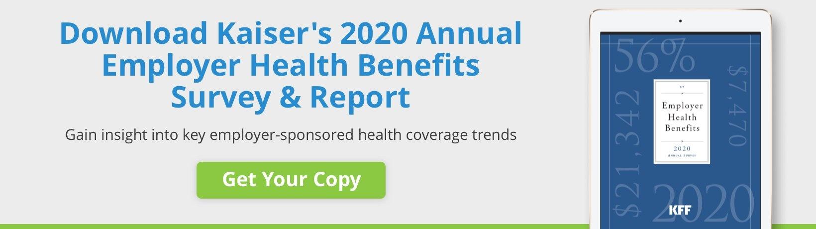 Kaiser's 2020 Annual Employer Health Benefits Survey & Report Download
