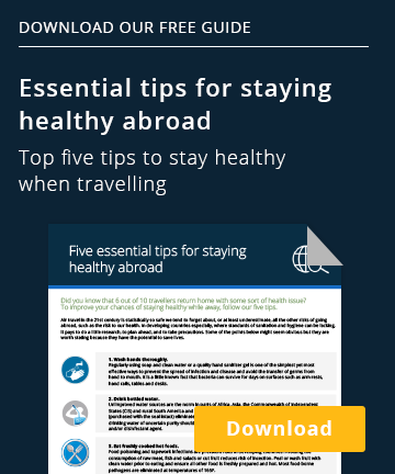 Download our free guide: Essential tips for staying healthy abroadTop five tips  to stay healthy when travelling   Download Download