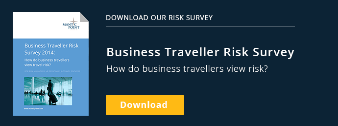 Download our risk survey: Business Traveller Risk Survey 2014How do business  travellers view travel risk?   Download Download