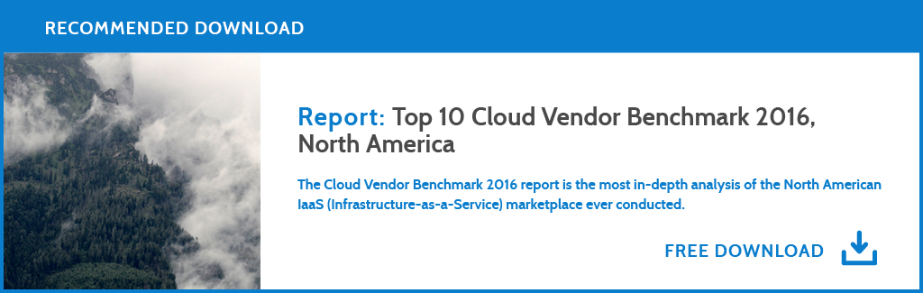 Download the Top 10 Cloud Vendor Benchmark Report