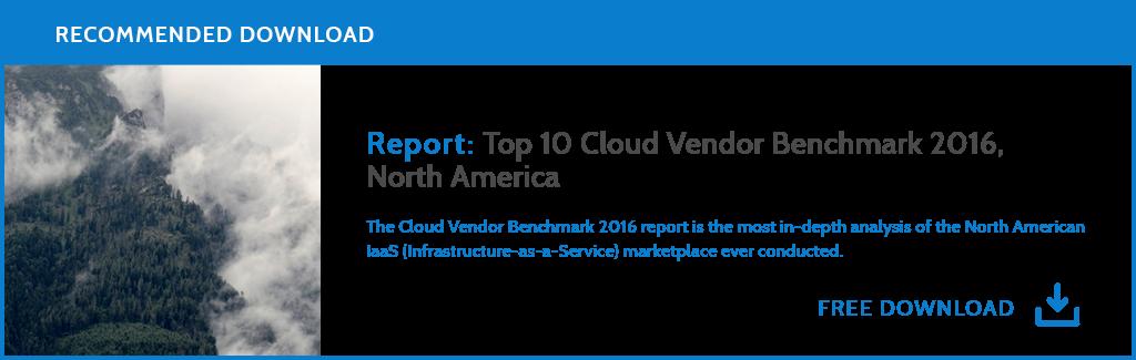 Download the Top 10 Cloud Vendor Benchmark Report