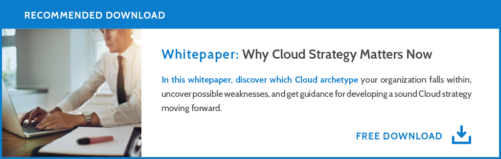 White paper: Why Cloud Strategy Matters Now