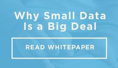 Why Small Data Matters