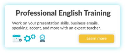 Professional English Training
