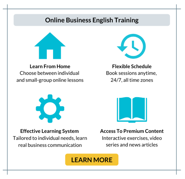 Online Business English Training LEARN MORE