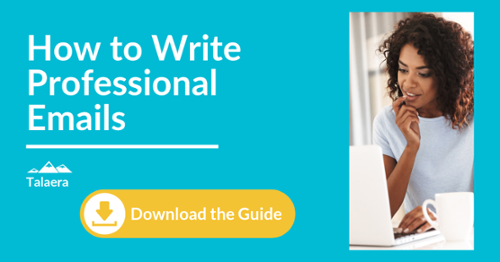 How to write professional emails - download the guide - Talaera