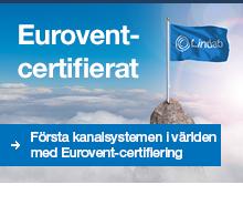 Lindabs kanalsystem certifierat av Eurovent