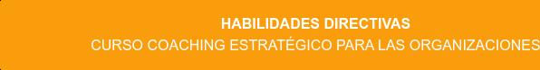 Habilidades Directivas Curso Coaching Estratégico para las Organizaciones