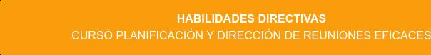 Habilidades Directivas Curso Planificación y dirección de reuniones eficaces