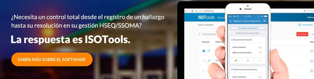 ISOTools Solución Integral para gestión y resolución de hallazgos en HSEQ/SSOMA