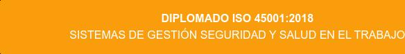 Diplomado ISO 45001:2018 Sistemas de Gestión Seguridad y Salud en el Trabajo