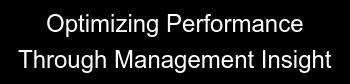 Optimizing Performance  Through Management Insight