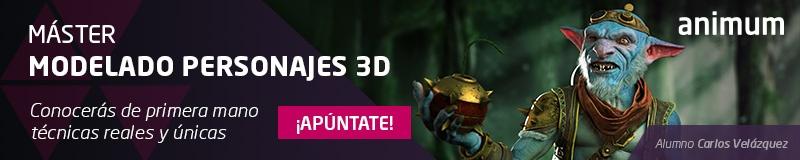 Máster Modelado de Personajes 3D con Maya y ZBrush para Cine y Videojuegos