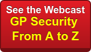 See the Webcast GP Security  From A to Z