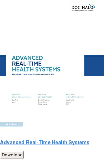 Advanced Real-Time Health Systems Download