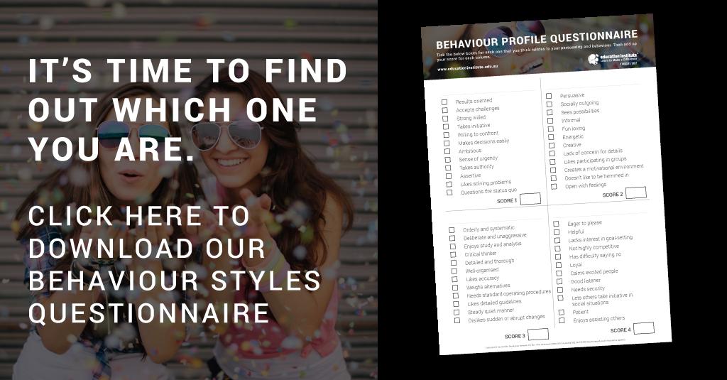 Behaviour Styles - Education Institute Questionnaire