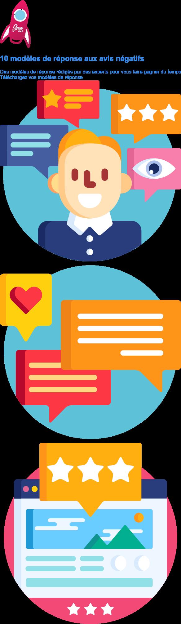 10 modèles de réponses aux avis négatifs  Téléchargez gratuitement des modèles de réponses rédigés par des experts Je télécharge mes modèles