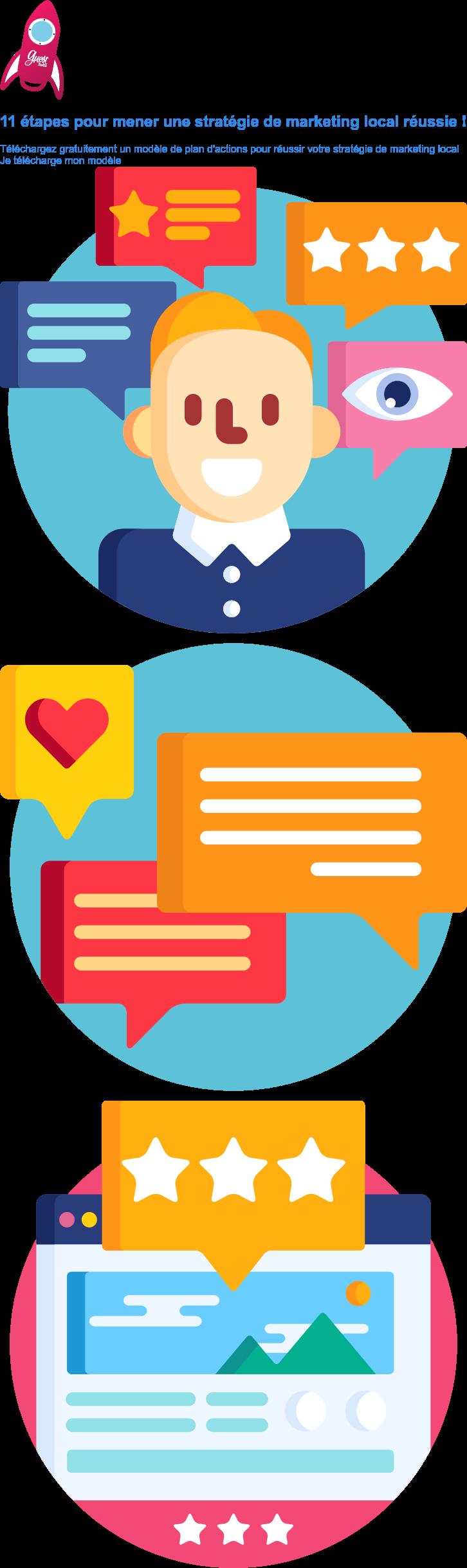 11 étapes pour mener une stratégie de marketing local réussie !  Téléchargez gratuitement un modèle de plan d'actions pour réussir votre  stratégie de marketing local Je télécharge mon modèle