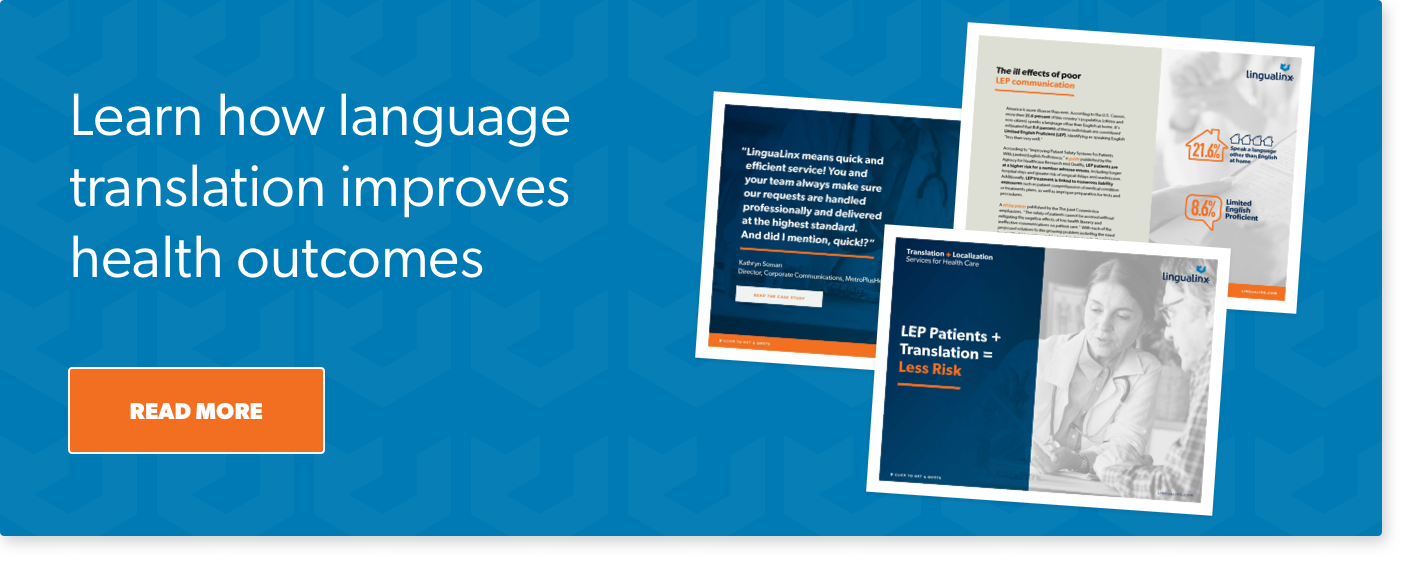 Learn how language translation improves health outcomes