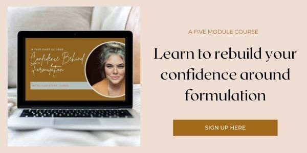 Confidence Behind Formulation Course
