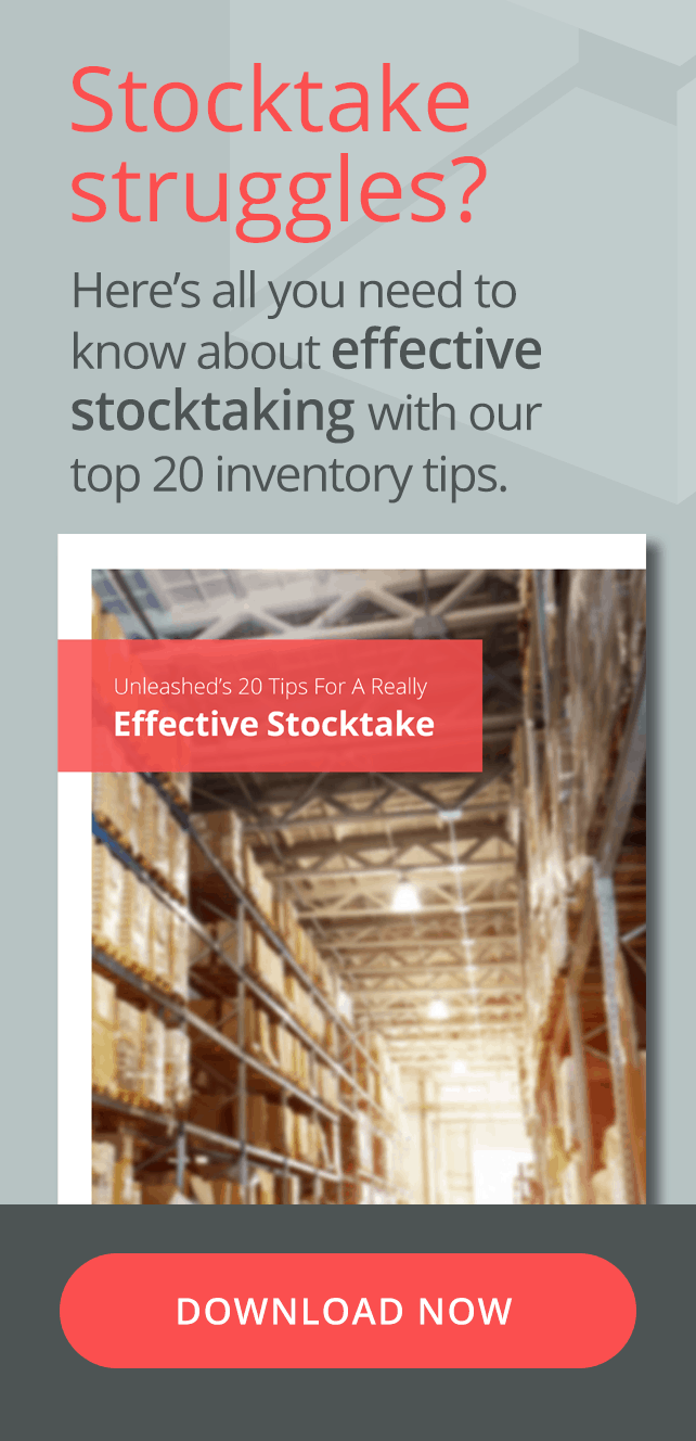 Stocktake Struggles? Here's all you need to know about effective stocktaking with our top 20 inventory tips. Download your ebook now.