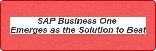 SAP Business One Emerges as the Solution to Beat