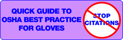 Quick Guide to OSHA Best Practice for Gloves