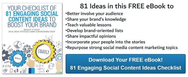 Download 81 Social Content Ideas Today!
