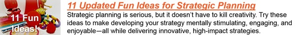 fun strategic planning strategy
